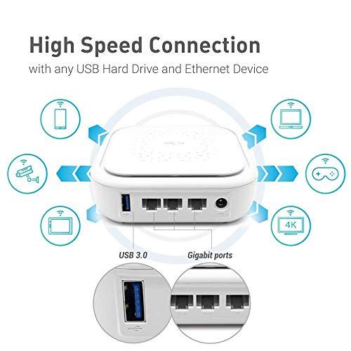 GL.iNet GL-B1300 (Convexa-B) Home AC Gigabit VPN Router, 400Mbps(2.4G)+867Mbps(5G) Hochgeschwindigkeit, DDR3L 256MB RAM/32MB Flash ROM, OpenWrt vorinstalliert, Wi-Fi-Netzwerk, Netzteil im Lieferumfang