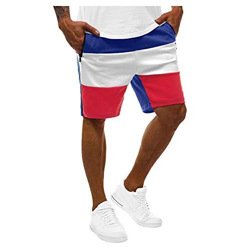 Kilwoe Pantalones cortos deportivos para hombre, con bolsillos, de secado rápido, transpirables, para gimnasio, entrenamiento, trotar