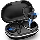 Wireless Earbuds, Muzili Waterproof Sport Earphones Bluetooth Headphones in Ear with Microphone 36H Playtime Bass Sound Earbuds with Ear Hooks & Charging Case for Running/Workout