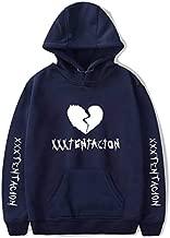 قميص بلوفر بقلنسوة رجالي والسيدات من Rap XXXTentacion بلون وردي