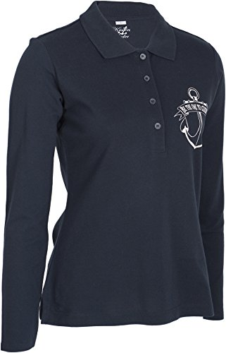 Küstenluder BE THE ONE TO GUIDE ME Mermaid Anker Sailor Langarm POLO-SHIRT Rock - 4