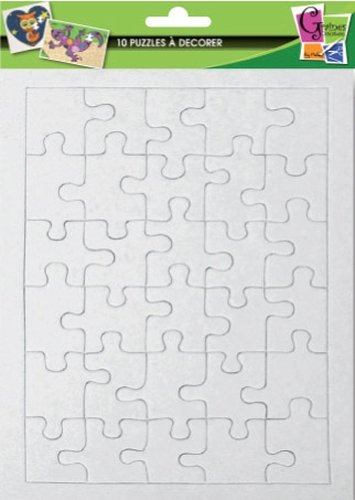 10 puzzles of 30 parts to decorate - 20 x 13 cm -