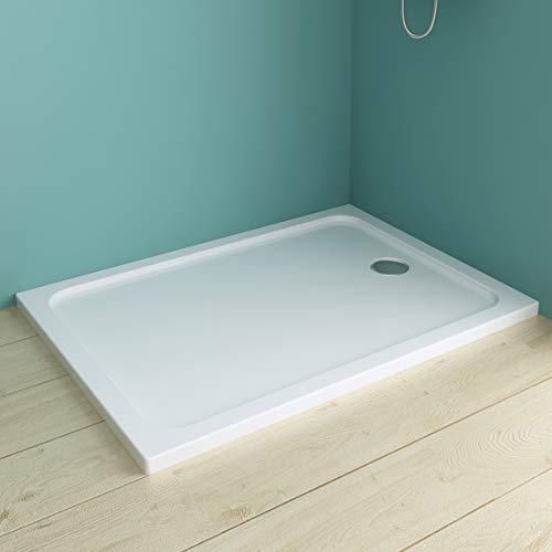 90 x 120 cm Duschtasse Duschwanne rechteckig extra flach Duschwanne Rechteck Eckig aus Acryl Ohne Ablaufgarnitur