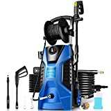 TEANDE Pressure Washer 3800PSI Power Washer 2.8 GPM Electric Pressure Washer Machine Cleaner with Reel Adjustable Nozzle, Spray Gun, Detergent Tank for Cleaning Garden, Homes,Cars,Driveways(Blue)