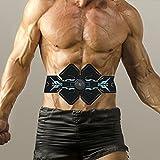 F Fityle ABS Fitness Equipo de Recorte de Cintura Equipo de Entrenamiento Estimulador de Entrenamiento 6 Modos Tóner Muscular Cinturón de tonificación - cinturón de Pulsera