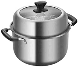 XSWY Soup Pot, 22cm Double-layer Steamer Soup Pot Dual-use, 304 Stainless Steel Soup Steamer, Multi-function Soup Pot With...