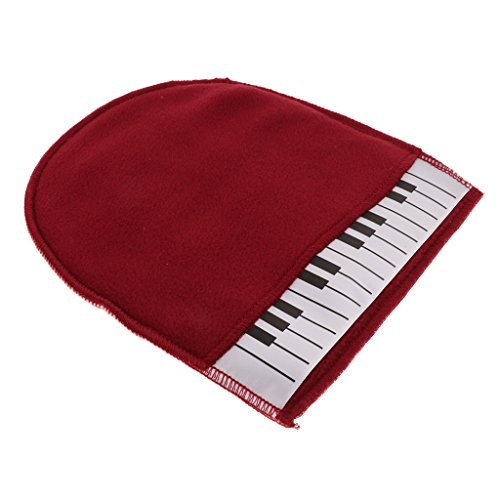 Read About 1x Piano Clean Glove Duster Cloth Red For Piano Musical Instrument Accs