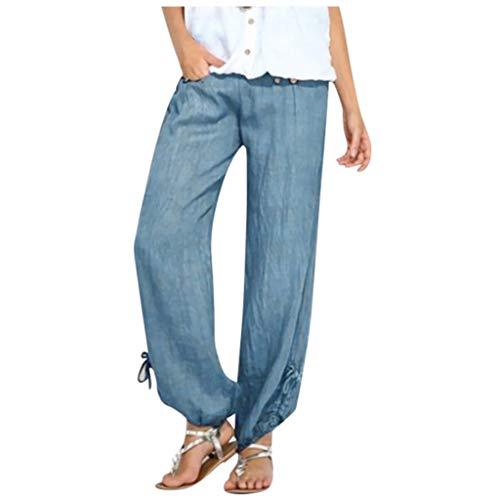 Fossen MuRope Pantalones Mujer Tallas Grandes Elasticos Hippies Largo Otoño Invierno - Leggings Deporte Skinny Fitness de Vestir Ligeros, Casuales, Boho - Pants Casual para Chicas y Mujeres
