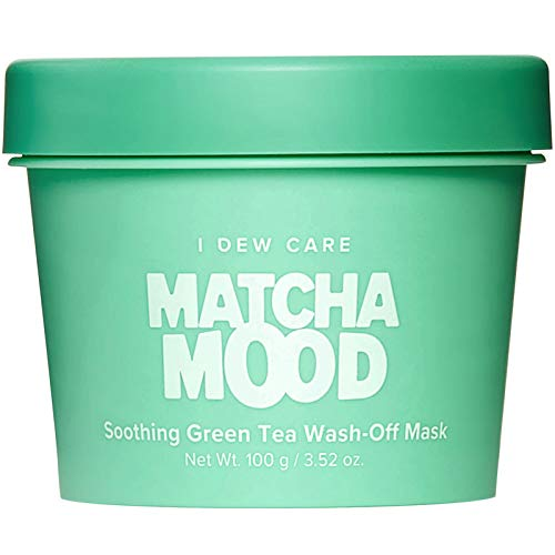 I DEW CARE Matcha Mood   Soothing Green Tea Wash-Off Face Mask   Gifts for women who has everything   Korean Skincare, Facial Treatment, Vegan, Cruelty-free, Gluten-free, Paraben-free