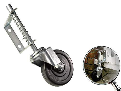 Laufrolle für Schiebetore gefedert 100mm Schiebetorrolle 57kg Lenkrolle Torrolle