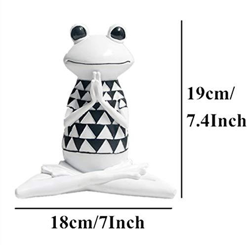 yueyue947 3 Arten Harz schwarz und weiß Streifen Frosch Yoga Figuren Tier Yoga Statue niedlichen Frosch Modell für büro wohnkultur Geschenke/Frosch Yoga Modell-1