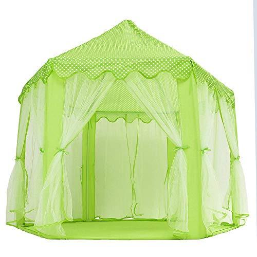ARONTOME Tragbare Prinzessin Schloss Spielzelt Aktivität Feenhaus Spaß Spielhaus Strand Baby Zelt Spielzeug Geschenk für Kinder-China_Grün