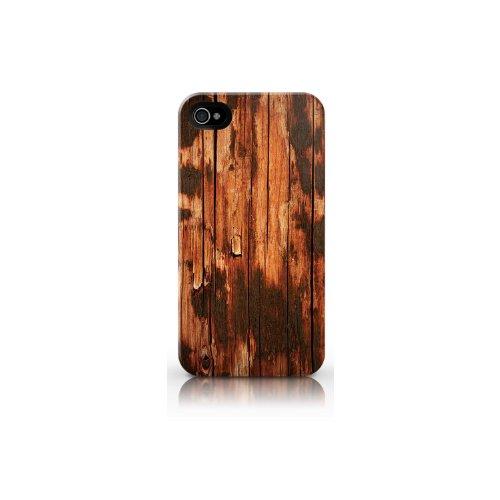 Snekz - Carcasa rígida para iPhone 4 o iPhone 4S (aspecto de madera), color marrón