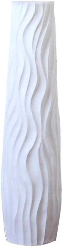 Couleur : Blanc, Taille : L Vase Plancher en C/éramique Haut D/écoration Salon Moderne Minimaliste Branche S/èche Arrangement de Fleurs Europ/éen D/écoration de La Maison Grand