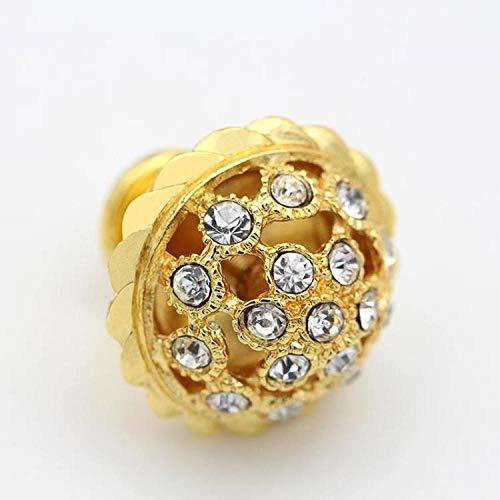 Deurknoppen 6 Stks K9 Crystal Diamond Knop Super Glanzende Keukenkast Deur Goud Hardware Dressoir Lade Sieraden Doos