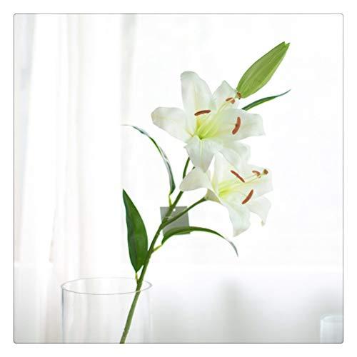 DFSDG Lilie Seide Tuch Künstliche Blume Hochzeit Dekoration DIY Kranz Geschenk Dekoration Home Handwerk Pflanze Gefälschte Blume (Color : Style 1)
