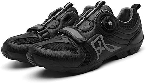 JINFAN Men's MTB Bike Shoes,Very Suitable for Mountain Bikes,Cross-Country Bikes,Black-8UK/41EU