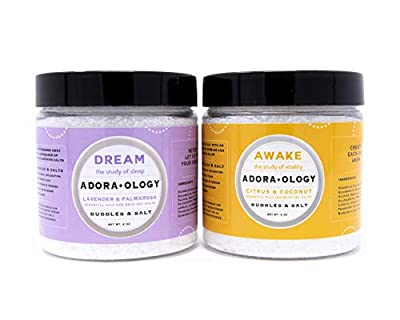Natural Bubble Bath Epsom Salt (2 Pack Bundle) Premium Bath Salts Infused with Bubbles - Exfoliate and Moisturize Skin - Luxury 4oz Bath Product from Relax Spa and Bath