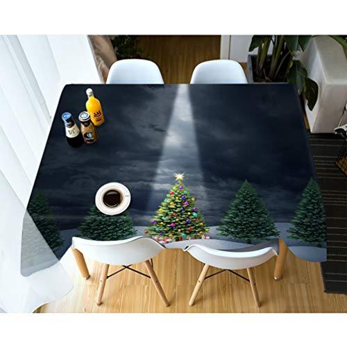 AMON LL 3D gedrukte kerstboom patroon tafel Cover, kerst tafelkleed stofdicht rechthoekige tafelkleed voor thuis tafels Decor