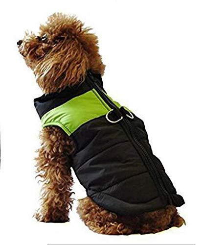 Lovelegis Windjacke für Hunde - wasserdichte Daunenjacke - gepolstert - Mantel - Hund - Winter - Herbst - Fluoreszierende grüne Farbe - Größe L - Geschenkidee