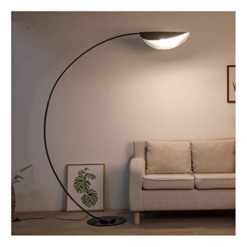 Moderne LED Vloerlamp, Eenvoudige Nordic Woonkamer Oogbediening Afstandsbediening Sofa Villa Vloerlamp (Kleur: Zwart, Maat : Afstandsbediening)