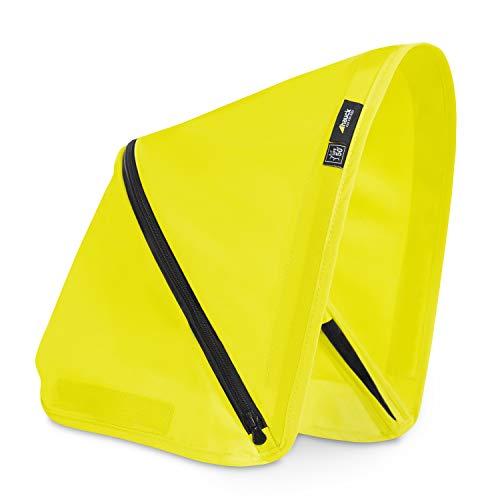 Capota Hauck de 3 zonas con protección UV 50+ para la silla de paseo Swift X, óptimos diseños, fácil de intercambiar para un estilo individual - amarillo neon