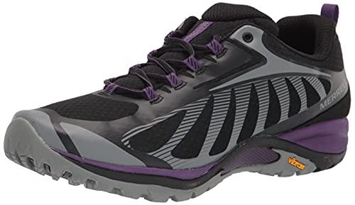 Merrell womens Siren Edge 3 Hiking Shoe, Black/Acai, 8.5 US