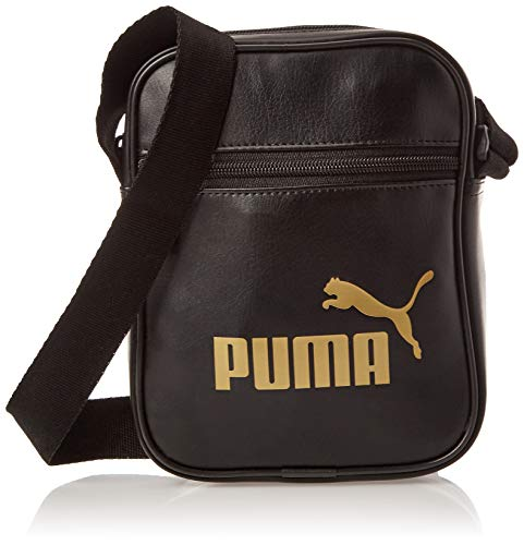 PUMA Damen WMN Core Up Portable umhängetasche, Black-Gold, OSFA