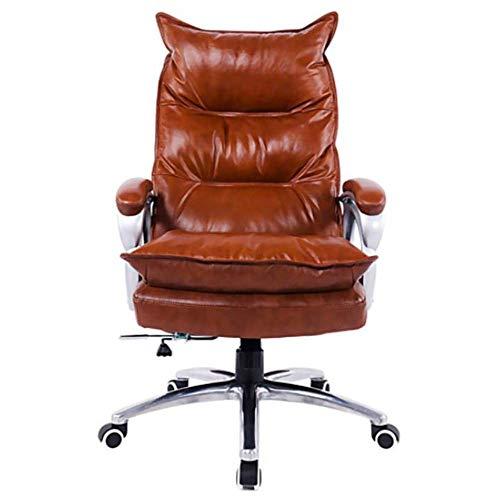 Boss Chair Office Bürostuhl mit hoher Rückenlehne, Computertischstuhl aus Kunstleder mit großem Sitz und Armlehnen, ergonomisches Design, einstellbare Sitzhöhe, Synchronneigungsmechanismus 360-Grad-D