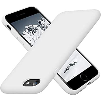 Cordking iPhone SE 2020 Case iPhone 7 8 Case Silicone Ultra Slim Shockproof Phone Case with [Soft Microfiber Lining] 4.7 inch White