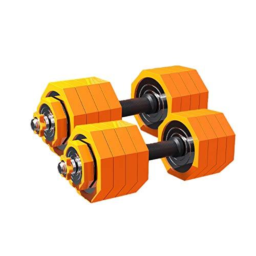Mancuerna Conjunto de Pesas Ajustables Polígono Barbell Peso Juego de Pesas Inicio Fitness Equipos for Hombres y Mujeres con Vara de conexión Ejercicios (Peso : 50KG(25KG×2))