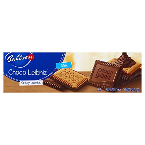 Bahlsen Choco Leibniz Milk Cookies - Leibniz Butter Biscuits topped with a thick layer of European Chocolate - 4.4 oz boxes