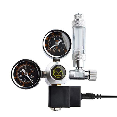 Druckminderer CO2 Variante Mehrweg mit fest verbauten Magnetventil und Rückschlagventil Nadelventil Aquarium Nachtabschaltung