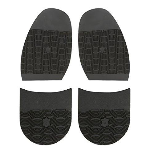 2ペアセット ゴム製 ハーフソール シューズ 半分 靴裏 靴クッション 190mmx120mmx3mm 切り替え 靴屋用 使いやすい 靴修理部品