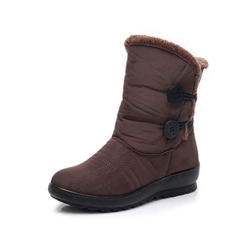 Affordable EISHOW Women's Snow Boots Warm Winter Anti-Slip Faux Fur Lined Waterproof Resistant Thick...