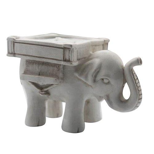 Brussels08 1 bougeoir rétro en forme d'éléphant porte-bonheur pour bougie chauffe-plat - Pour mariage, maison, fêtes, occasions spéciales et décorations de vacances - Aléatoire