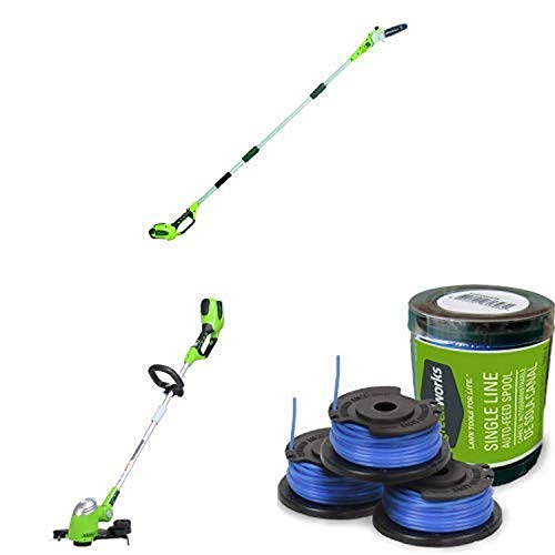 Buy Greenworks 8.5' 40V Cordless Pole Saw, 2.0 AH Battery Included 20672 with  13-Inch 40V Cordless ...