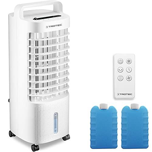 TROTEC Aircooler PAE 11 Luftkühler 3-in-1 mobile Klimaanlage Klimagerät Ventilator Luftbefeuchter 3 Gebläsestufen 3 l Tank Verdunstungskühlung Luftfilter