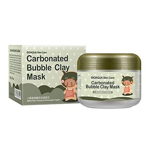 Carbonated Bubble Clay Mask - Mitesserentfernermaske Schaummaske Schlammmaske, feuchtigkeitsspendende, tief reinigende natürliche Gesichts- und Körpermaske 100g