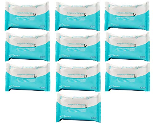 10 Pack of Isopropyl Alcohol Based Hand Wipes 30 Cloths....