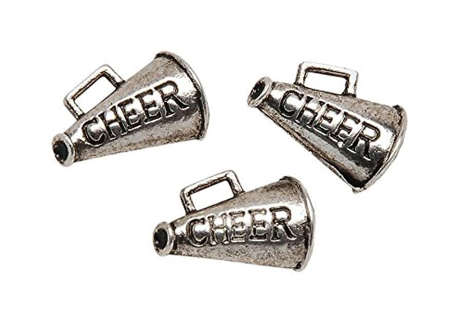 Metal Charms: Silver Cheer 8/Pkg