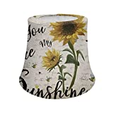 Aoopistc You are My Sunshine Sunflower Lamp Shades with Metal Frame, Home Decorative Lampshades Small for Table Lamp/Desk Lamp/Floor Lamp Shades