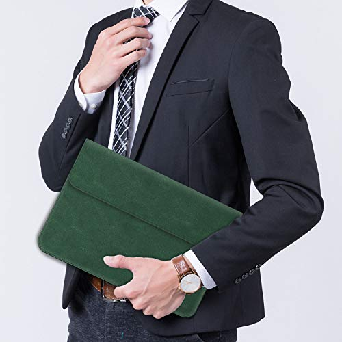 TECOOL 13 3 Zoll Laptop Hülle Tasche Faux Wildleder Leder Notebook Schutzhülle und Zubehörtasche für MacBook Air 13 A1466/A1369, MacBook Pro 13 A1502/A1425, MateBook D 14, 13.5