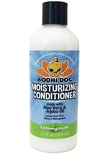 Natural Moisturizing Dog Conditioner   Conditioning for Dogs, Cats and More   Soothing Aloe Vera & Jojoba Oil   1 Bottle 17oz (503ml) (Lemongrass)