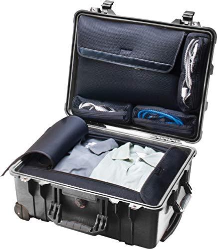 PELI 1560LOC valise étanche pour ordinateur portable, conforme à la norme IP67, capacité de 44L, fabriquée aux États-Unis, avec pochette détachable pour ordinateur et accessoires, couleur: noire