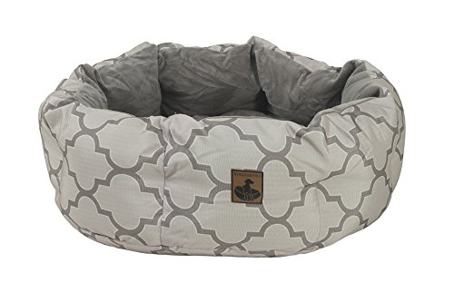K9 Ballistics Round Dog Bed Deep Den, Bagel, Donut, and Deep Dish Style for Cuddler, Machine Washable (Black Small 24' x 20' x 8')