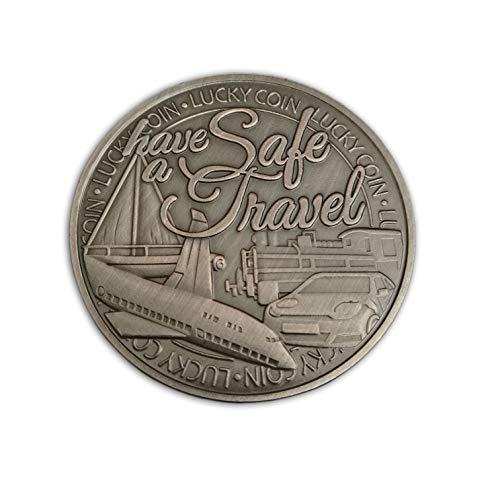 Glücksbringer für Reisen Sammelmünze Amulett für sicheres Reisen & Schutz