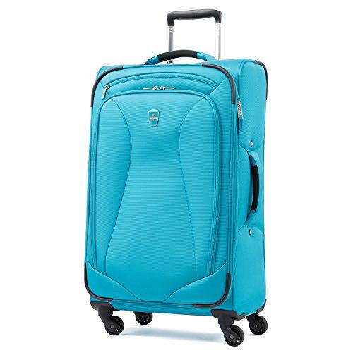 Atlantic Luggage Atlantic Ultra Lite Softsides 25' Expandable Spinner, Turquoise Blue, Checked Medium