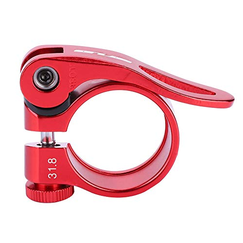 VGEBY1 Seatpost Clamp, Bicycle Quick Release Ultra-Light Seat Clamp Aluminum Alloy Seat Tube Clip Bicycle Seatpost(31.8mm-Red)