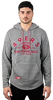 Ultra Game NFL San Francisco 49ers Mens Fleece Hoodie Pullover Sweatshirt Vintage Logo Gray Snow Medium